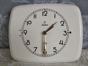Details About Two Vintage Art Deco Style Ceramic Kitchen Wall Clocks One Is Junghans