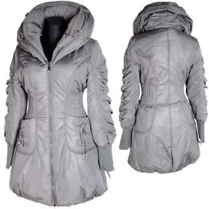 DAMEN WARM BALLON Winter Jacke Daunen Mantel Kapuze Parka 38