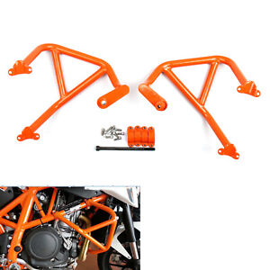Moto-Crash-Bar-Garde-moteur-Pour-KTM-DUKE-690-2012-2017-2014-Orange-AF