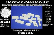 350213, Ladegut, Transportkisten Set 23, 1:35 Resin, GMKT World of History