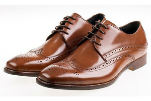 John White Whitehall Brogues Shoes/tan Uk12 Srp £120.00 Hell In Farbe Herrenschuhe Halbschuhe