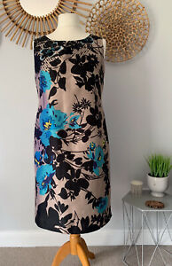 Monsoon-Floral-Beaded-Shift-Dress-UK14-Evening-Party