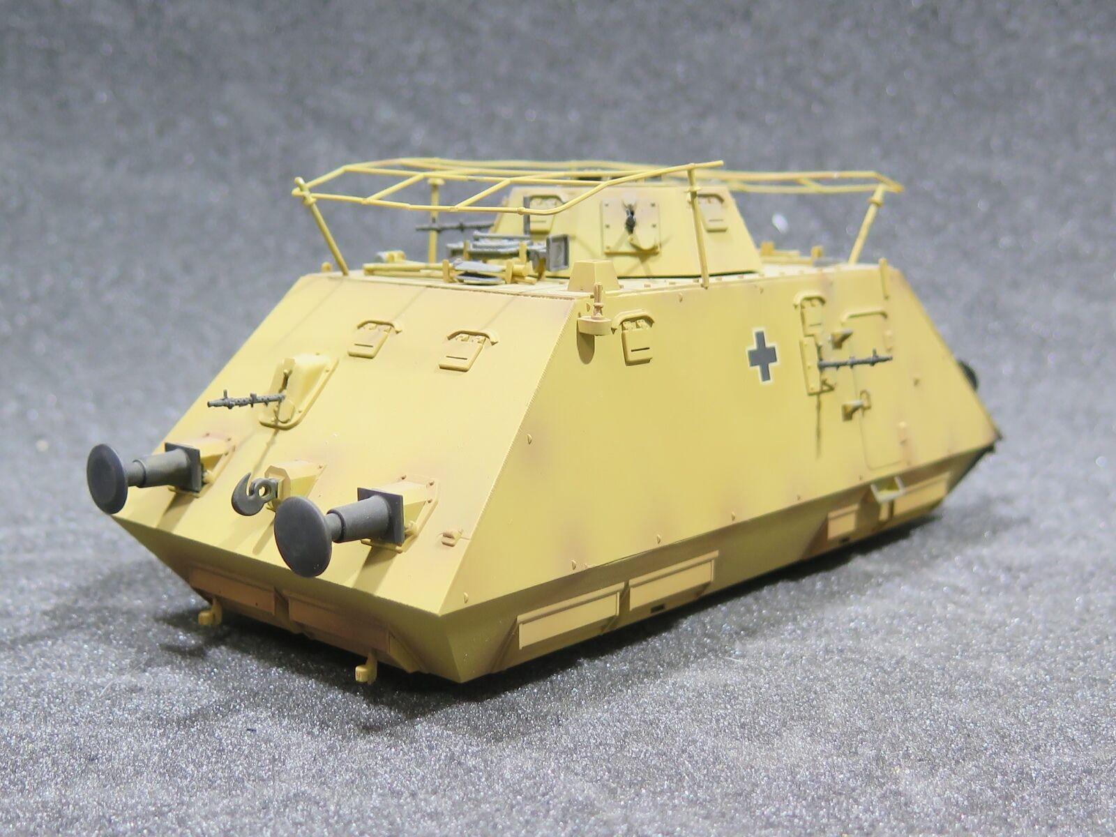 Mi0782 1 35 PRO BUILT Plastic Dragon German Schwerer Panzerspähwagen (Kommandow