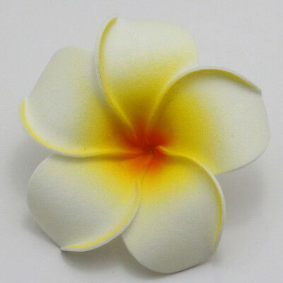 2piecs 6cm white Foam Floating Frangipani/Plumeria/Hawaiian Flower Floral Crafts