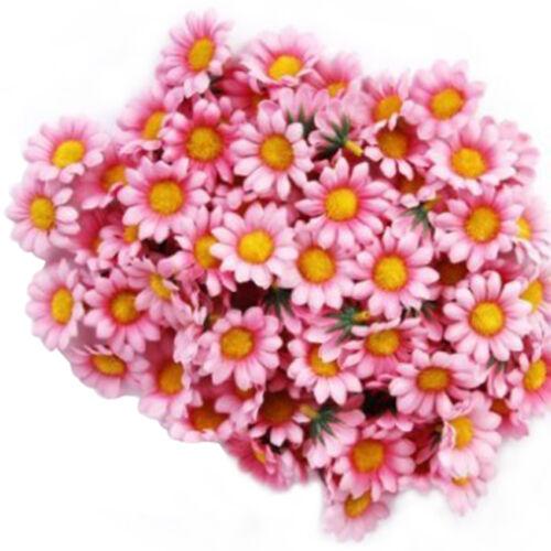 10//50//100pcs Heads Artificial Floral Fake Daisy Flowers Bouquet Wedding Decors