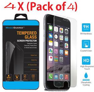 4Pcs-Premium-Real-Screen-Protector-gehaertetes-Glas-Film-fuer-iPhone-6-6s-7-Plus