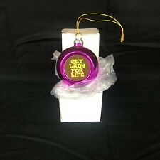 NWT Christmas Ornament Ladies Girlfriend Humorous Cute Dangly Metal Use Drop Box
