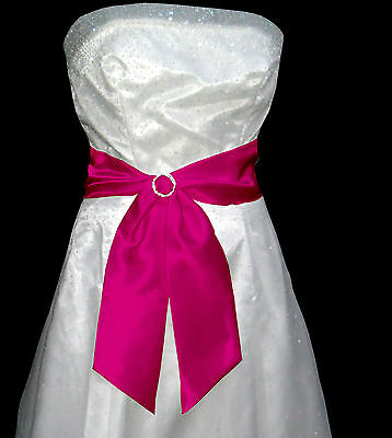 "4""x58"" SATIN Fancy Dress Party Wedding SASH Band Tie Belt Band Bridesmaid Prom"