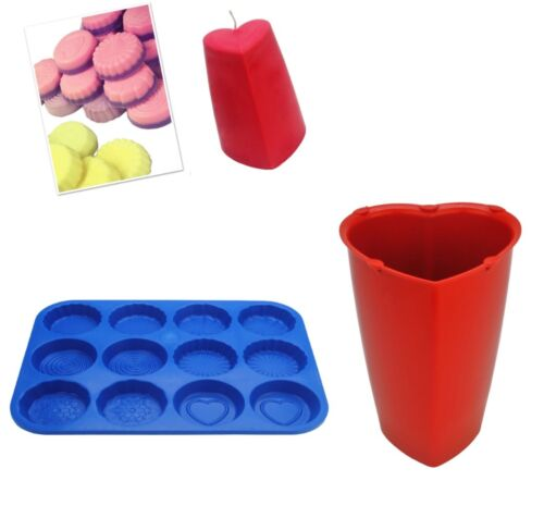 S7750 Valentine Heart Candle Mould /& Wax Melt Tart Tray Set of 2 Heart Swirl