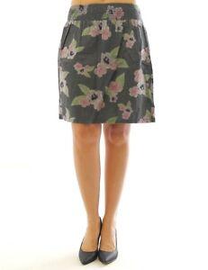 new products 5d8a6 543bc John Baner Damen Jeansrock Rock Mini Blumen Print Skirt grau ...