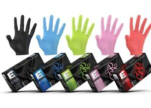 Elegance Barber or Stylist Nitrile Gloves Black, Pink, Blue, Red 100CT