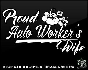 Pipefitter Wife Vinyl Sticker Decal Proud Spoiled Spouse Funny Tradesman Union