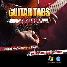 Anthrax Guitar Tab Learn How To play Anthrax Tablature + Tab Software CD