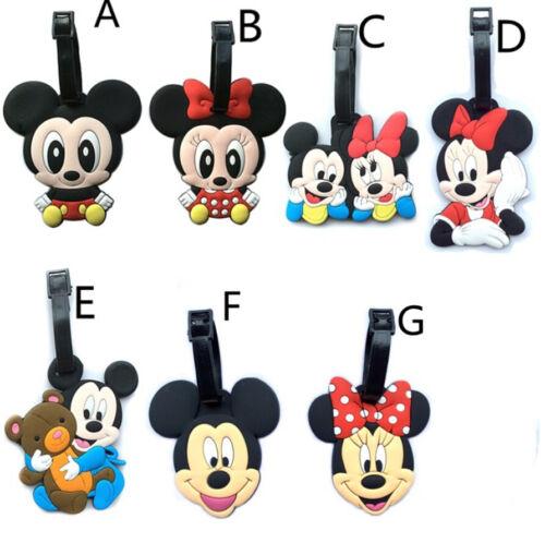 Disney Minnie mickey couple luggage tag baggage tips silica gel tags cute gift n