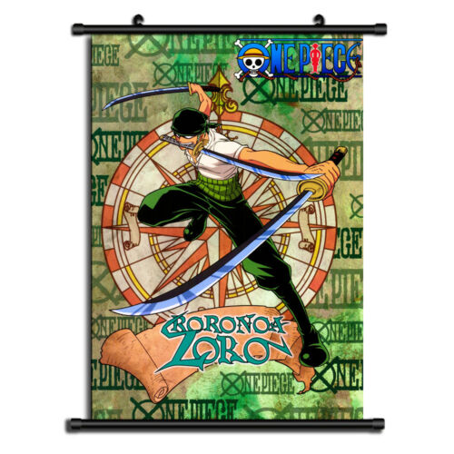 One Piece Zoro Anime HD Canvas Print Wall Poster Scroll Home Decor Cosplay