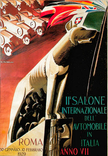 Vintage Transport Travel Advertising Poster RE PRINT Roma 1929