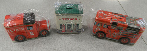 fire truck and petroleum  truck Lot of TEXACO tin banks gas station