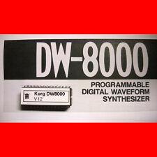 Korg DW8000 firmware OS upgrade: version 12