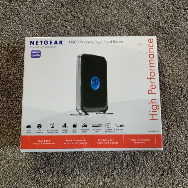 NETGEAR N600 300 Mbps 4 Port 300 Mbps Wireless Router WNDR3400 OPEN BOX