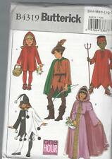 BUTTERICK SEWING PATTERN CHILDRENS RODIN HOOD RED RIDING HOOD MAID MARION  B4319