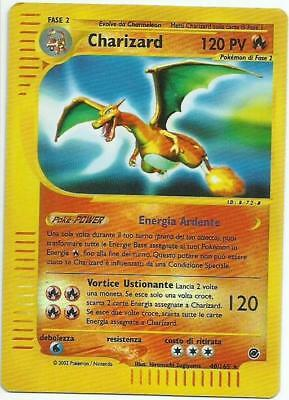 POKEMON CHARIZARD REVERSE HOLOFOIL 40/165 (EXPEDITION) Excellent - Italian Card