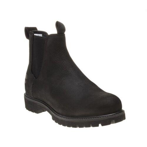 Chelsea hombre Elasticated Premium de Nuevo On Timberland Pull 6` para botas cuero Black xfw5ASYqa