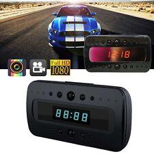 Mini 1080P SPY Hidden Camera Clock IR Night Vision Motion Detection DV+Remote WT