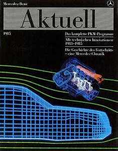 Mercedes-Aktuell-Prospekt-1985-brochure-prospectus-broschyr-W-126-124-201-129