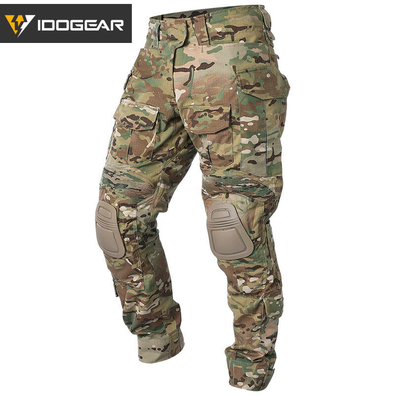 IDOGEAR G3 Combat Pants  with Knee Pads Multicam Pants Airsoft Tactical Trousers  more discount