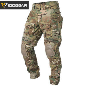 IDOGEAR-G3-Combat-Pants-w-Knee-Pads-Airsoft-Tactical-Trousers-Camo-Multicam