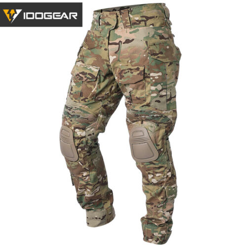 IDOGEAR G3 Combat Pants w// Knee Pads Airsoft Tactical Trousers Camo Multicam