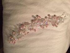 Vintage style Blush  pink bridal hair vine/tiara/headdress