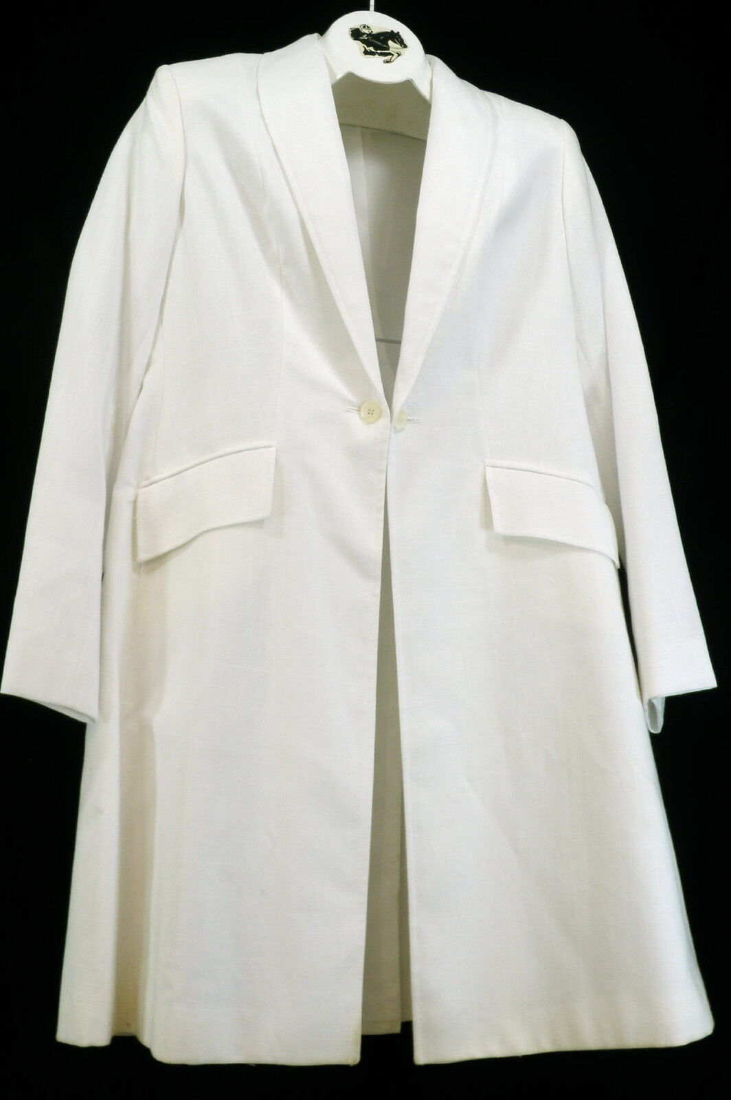 Reed Hill  Ladies Saddleseat Day Coat White Linen Blend size 14 - USA  retail stores