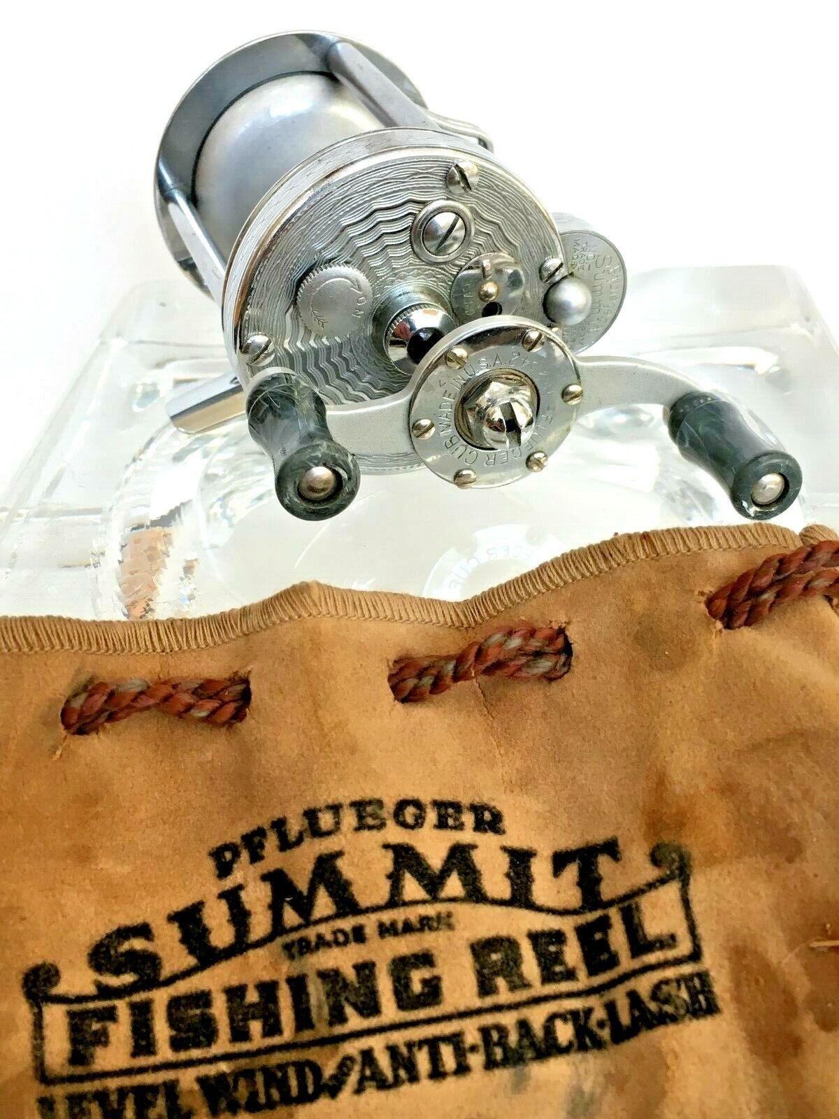 Engraved Pflueger Summit 1983-M, Jeweled, Bait Casting Fishing Reel, USA