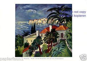 Ragusa Sizilien XL Kunstdruck von 1925 Franz Heckendorf Rausa Ragusia Italien -
