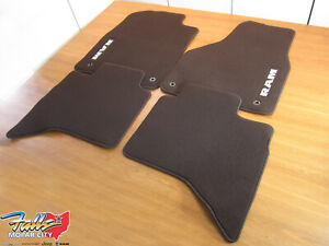 2013-2017 Ram 1500 Classic Body Front & Rear Canyon Brown Carpet Floor Mats OEM