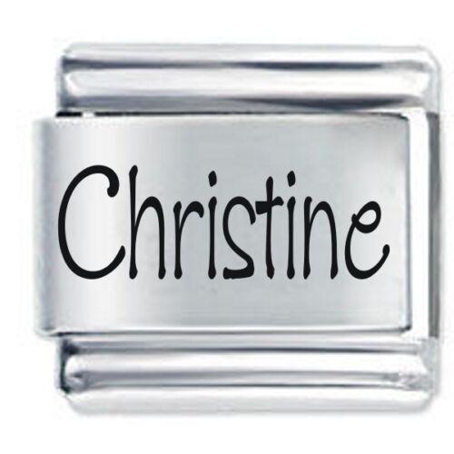 CHRISTINE Name Daisy Charm Fits Nomination Classic Size Italian Charms Bracelet
