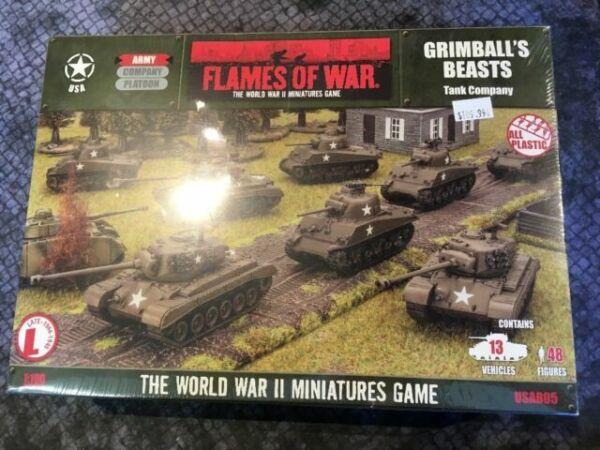 Grimball/'s Beasts USAB05 Flames of War WWII Miniatures Game NIB