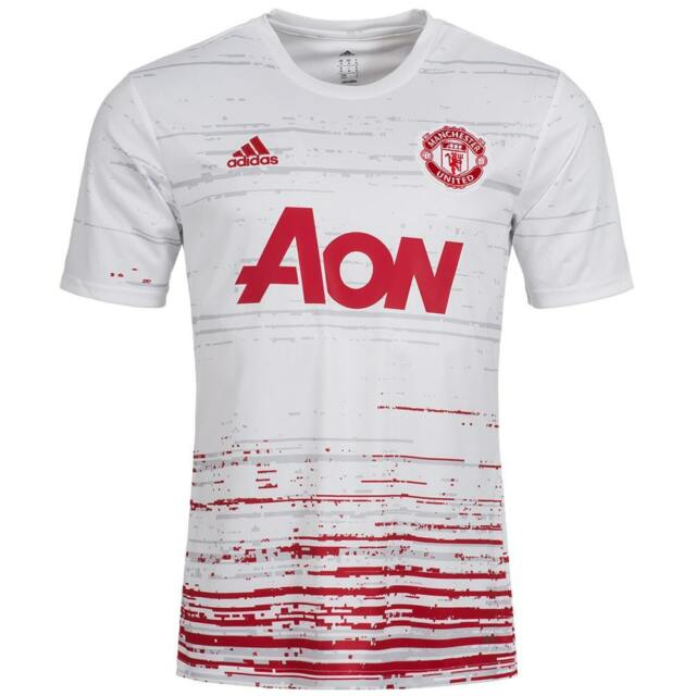 ced29f18d9c ADIDAS PERFORMANCE MENS MANCHESTER UNITED PRE-MATCH HOME SHIRT - ALL SIZES