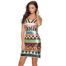 BNWT Drama Queen Sequin Aztec Shift Lucy Mecklenburgh Evening Occasion Dress 14