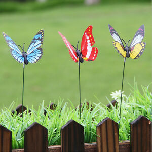 Exceptionnel Image Is Loading 24pcs Set Whimsical Butterfly Stakes Outdoor Yard Garden