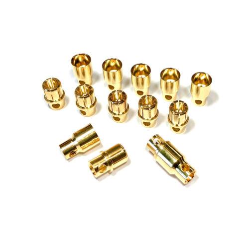 4 Paar 8 Stück 8mm 8,0mm 8.0mm Hochstrom Stecker Buchse Goldstecker Lipo Akku RC