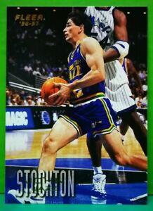 John Stockton regular card 1996-97 Fleer #111