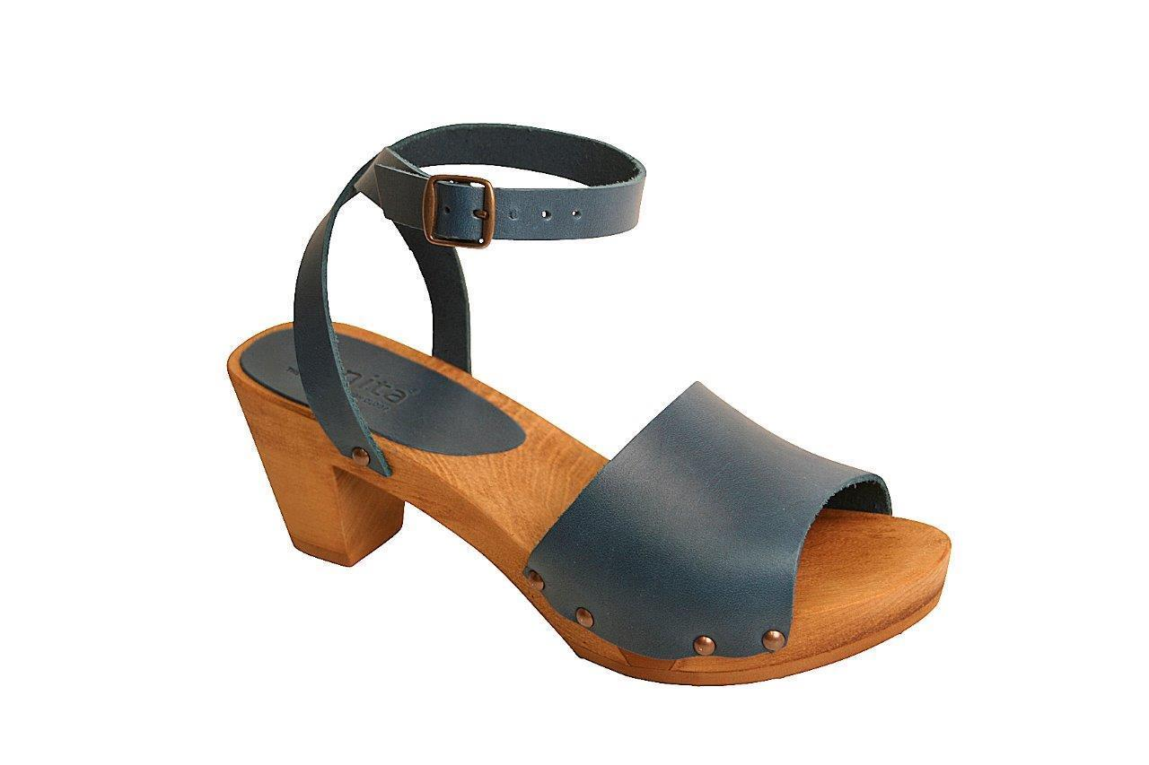 Sanita Yara Flex Womens shoes Sandals Clogs Plateau wood-sole comfy - NEW