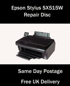 epson stylus photo sx515w reset service inkpad error disc free uk delivery ebay. Black Bedroom Furniture Sets. Home Design Ideas