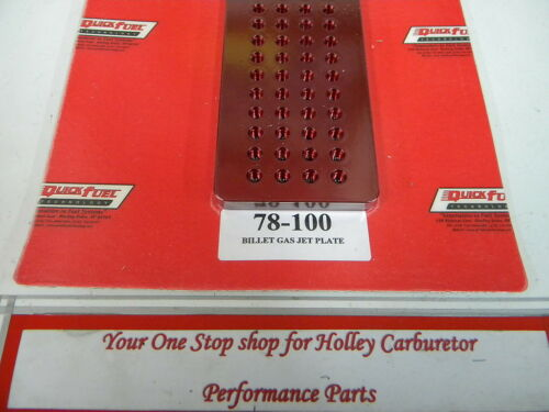 Holley QFT AED Billet Gas Jet Plate QFT 78-100 Free Shipping