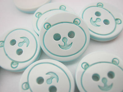 1//2 inch 10 Red Bear Buttons 13mm Resin Animal Baby Clothing Buttons