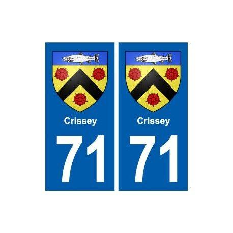 71 Crissey blason autocollant plaque stickers ville droits