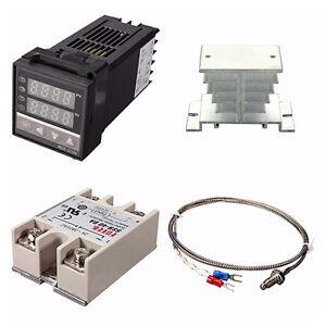 Digital-PID-REX-C100-Temperature-Controller-40A-SSR-K-Thermocouple-220V-I2R1
