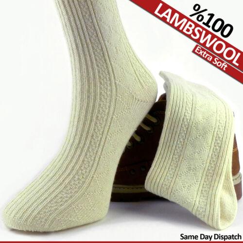 2 PAIRS /%100 LAMBSWOOL SOCKS THICK UNISEX PURE KNITTED WOOL WOOLLEN WINTER SOCKS